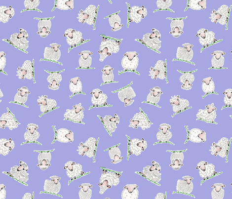 Sheepish by Lisa Sinicki fabric by lisa_sinicki_queen_of_the_chronic_overthinkers on Spoonflower - custom fabric