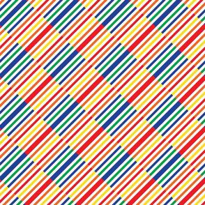 Geometric bauhaus color rectangle
