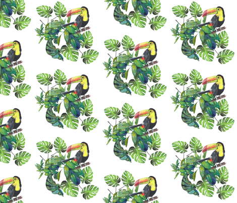 Hiding in the leaves  fabric by kat_hill on Spoonflower - custom fabric