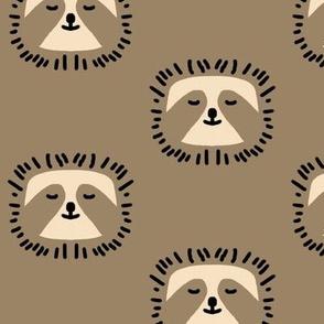 Tan sloths