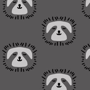 charcoal sloths