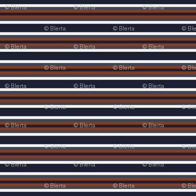 Navy and Rust Stripes