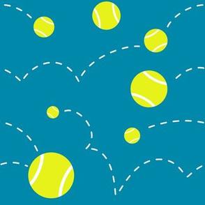 Bouncing Tennis Balls