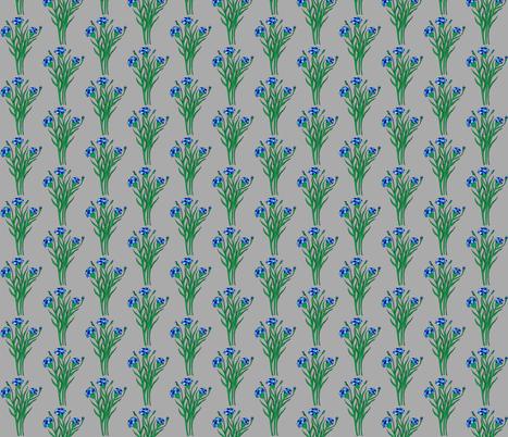 Blue Summer Cornflowers fabric by geeland on Spoonflower - custom fabric