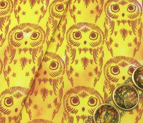 Watercolor Owls - Sunny Yellow