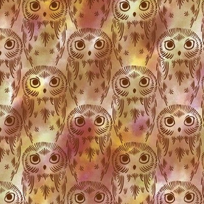 Watercolor Owls - Earthy