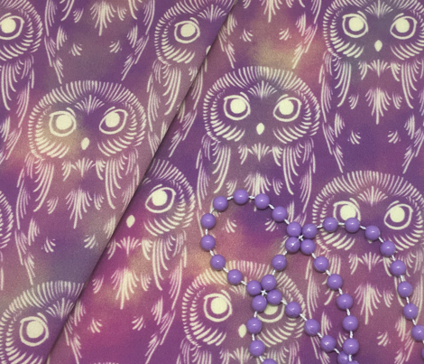 Watercolor Owls - Dusty Mauve