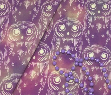 Watercolor Owls - Dusty Mauve