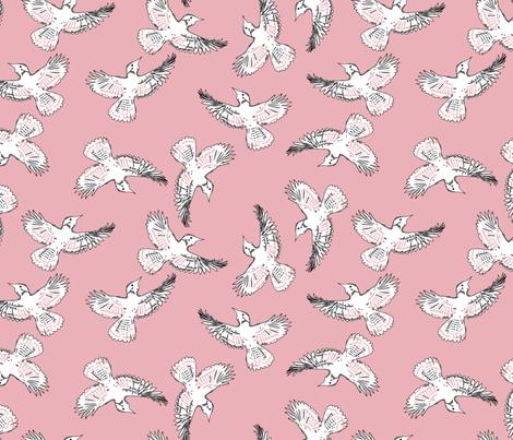 Blush Dove Print fabric by kpstyle on Spoonflower - custom fabric