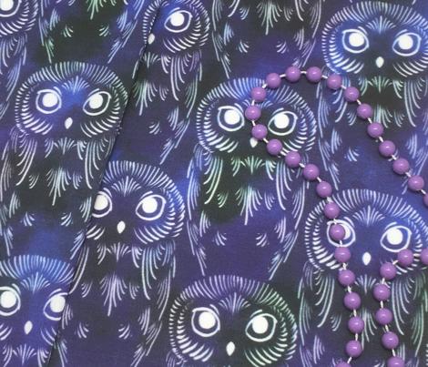 Watercolor Owls - Rainy Night