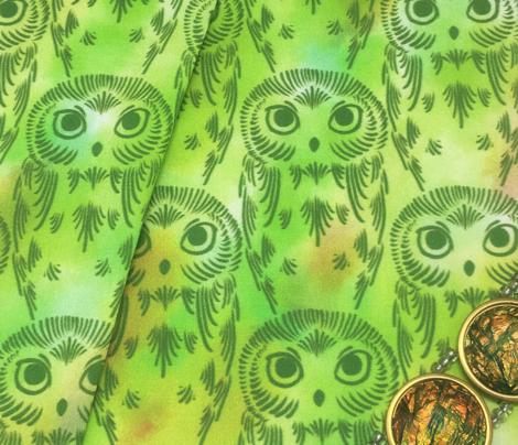 Watercolor Owls - Spring