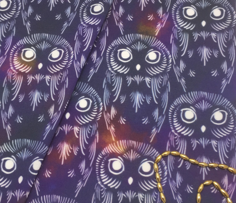 Watercolor Owls - Nebula Night