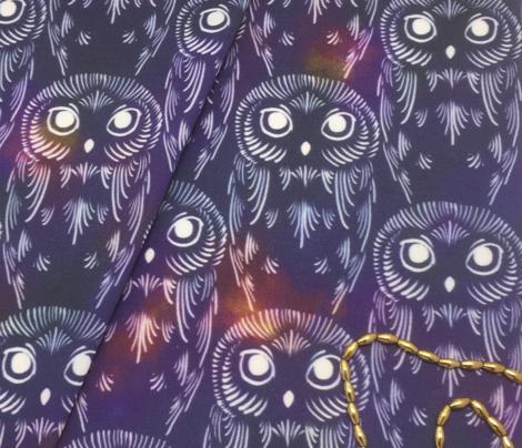 Watercolor Owls - Nebula Night