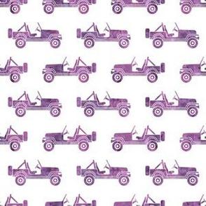 jeep - watercolor purple