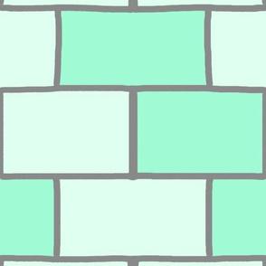 mint subway tiles