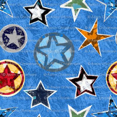Super Stars on Blue