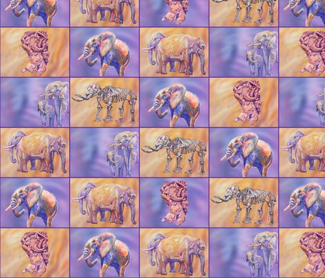 elephants galore fabric by blueskitty on Spoonflower - custom fabric