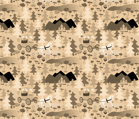 Epic carriage adventue fabric by everhigh on Spoonflower - custom fabric