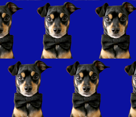 Top Dog - Blue fabric by debra_may_himes,_asid on Spoonflower - custom fabric