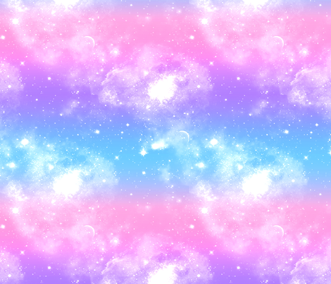 Pastel galaxy print fabric akw2796 spoonflower for Pastel galaxy fabric