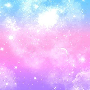 pastel galaxy print