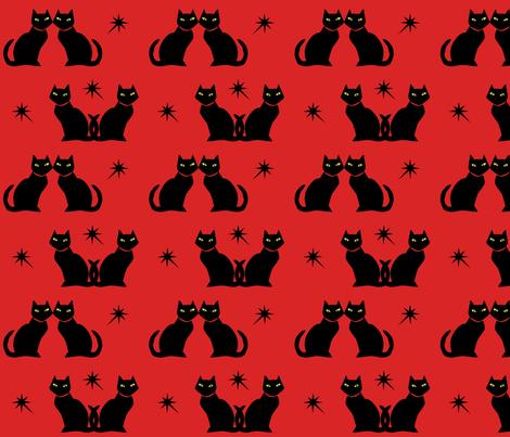 retrokittyredl fabric by denisebeverly on Spoonflower - custom fabric