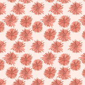 Abstract Salmon Flowers