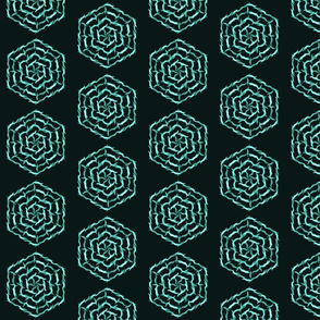 Turquoise abstract maze