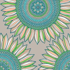 Mandala sunflowers