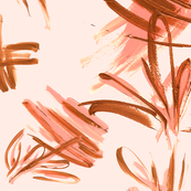 Salmon pink and bronze strokes
