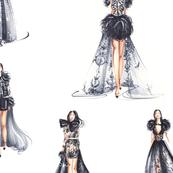 Fashion Girls in Black