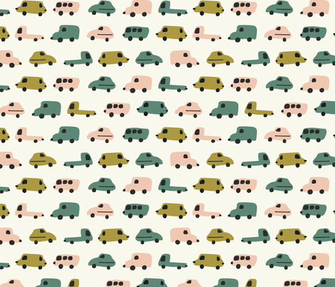 little car fabric by alpinist on Spoonflower - custom fabric