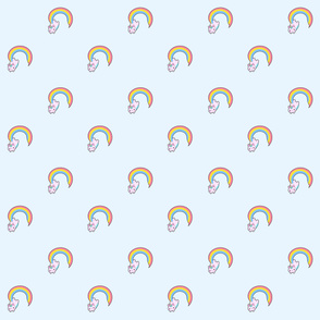 Kawaii proud rainbow cattycorn pattern