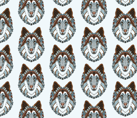 Blue Collie fabric by pateisen on Spoonflower - custom fabric