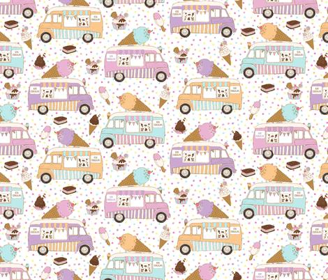 Ice Cream Trucks Small Scale fabric by red_raspberry_designs on Spoonflower - custom fabric