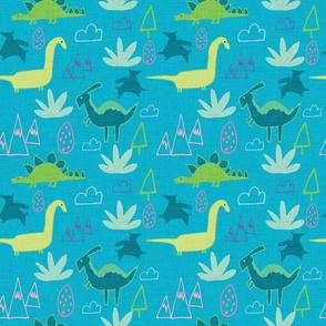 Dino Land Blue
