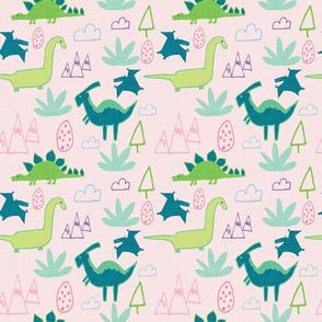 Dino Land Pink
