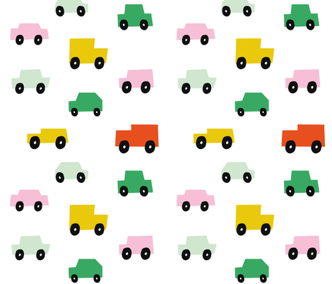 cars vehicles traffic scandi boys kids fabric by paperandpickles on Spoonflower - custom fabric