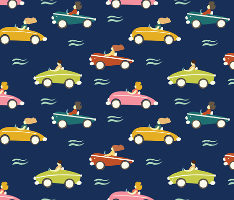 cars fabric by exotic_vector on Spoonflower - custom fabric