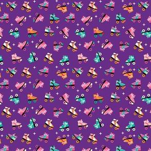 Fun colorful retro roller skates disco fun vivid illustration print SMALL