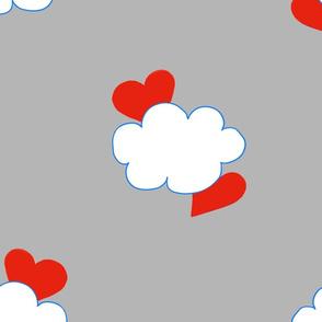 Cloud Heart Cloudy Grey Sky
