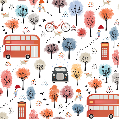 London transport fabric by elena_naylor on Spoonflower - custom fabric