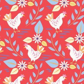 Layla's chickens, Red-Medium