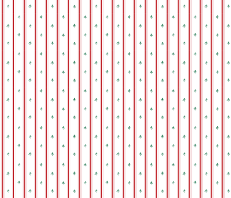 Red Pillow Ticking + Pine Trees fabric by outside_the_line on Spoonflower - custom fabric
