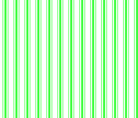 Mattress Ticking Narrow Striped Pattern in Neon Green and White fabric by paper_and_frill on Spoonflower - custom fabric