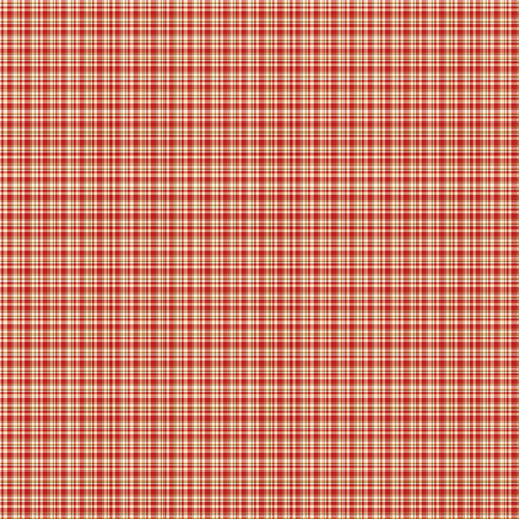 tiny red plaid fabric by raccoons_rags on Spoonflower - custom fabric