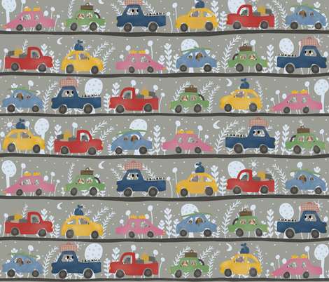 On the road fabric by obsoleta on Spoonflower - custom fabric