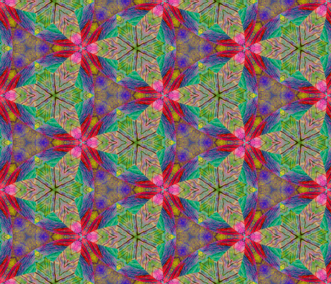 Commingled Circles and Triangles  fabric by enid_a on Spoonflower - custom fabric