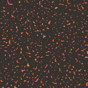 Grunge pattern - orange & pink noise on brown background