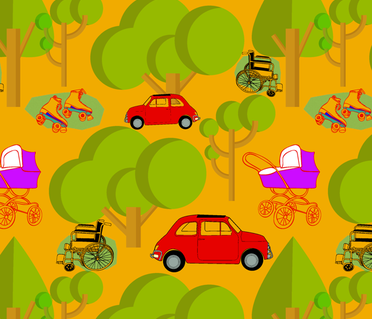 4wheels fabric by uniqueheartboutique on Spoonflower - custom fabric